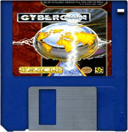 Artwork on the Disc for Cybercon 3 on the Commodore Amiga.