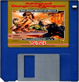 Artwork on the Disc for Dark Queen of Krynn on the Commodore Amiga.