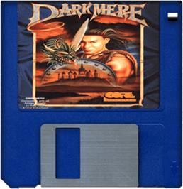 Artwork on the Disc for Darkmere: The Nightmare's Begun on the Commodore Amiga.