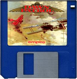 Artwork on the Disc for Dawn Patrol on the Commodore Amiga.