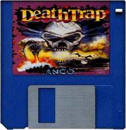 Artwork on the Disc for Death Trap on the Commodore Amiga.