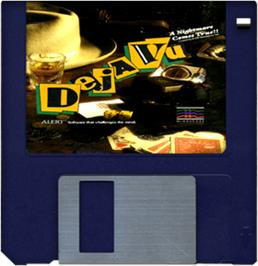 Artwork on the Disc for Deja Vu: A Nightmare Comes True on the Commodore Amiga.