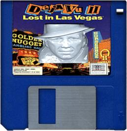 Artwork on the Disc for Deja Vu 2: Lost in Las Vegas on the Commodore Amiga.