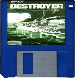 Artwork on the Disc for Destroyer on the Commodore Amiga.