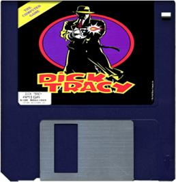 Artwork on the Disc for Dick Tracy: The Crime-Solving Adventure on the Commodore Amiga.