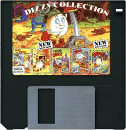 Artwork on the Disc for Dizzy Collection on the Commodore Amiga.