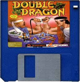Artwork on the Disc for Double Dragon on the Commodore Amiga.