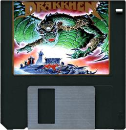 Artwork on the Disc for Drakkhen on the Commodore Amiga.