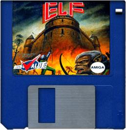 Artwork on the Disc for Elf on the Commodore Amiga.