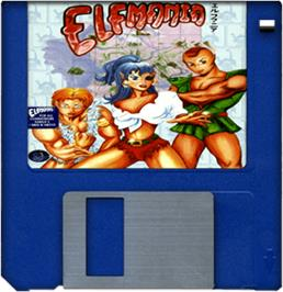 Artwork on the Disc for Elfmania on the Commodore Amiga.