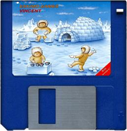 Artwork on the Disc for Eskimo Games on the Commodore Amiga.