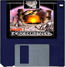 Artwork on the Disc for Executioner on the Commodore Amiga.