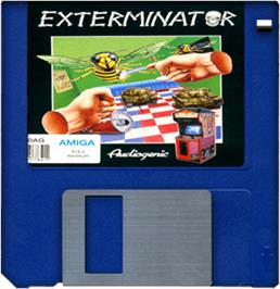 Artwork on the Disc for Exterminator on the Commodore Amiga.