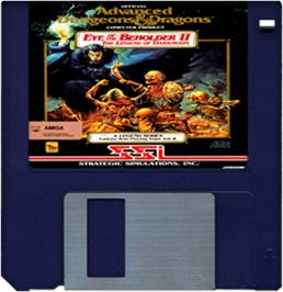Artwork on the Disc for Eye of the Beholder II: The Legend of Darkmoon on the Commodore Amiga.