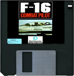 Artwork on the Disc for F-16 Combat Pilot on the Commodore Amiga.