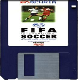 Artwork on the Disc for FIFA International Soccer on the Commodore Amiga.