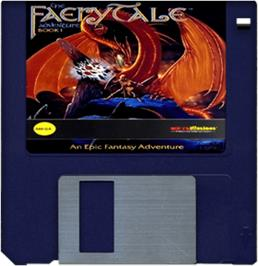 Artwork on the Disc for Faery Tale Adventure: Book I on the Commodore Amiga.