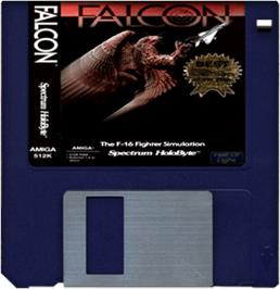 Artwork on the Disc for Falcon on the Commodore Amiga.