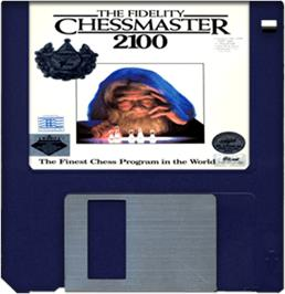 Artwork on the Disc for Fidelity Chessmaster 2100 on the Commodore Amiga.