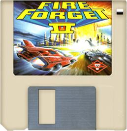 Artwork on the Disc for Fire and Forget 2: The Death Convoy on the Commodore Amiga.