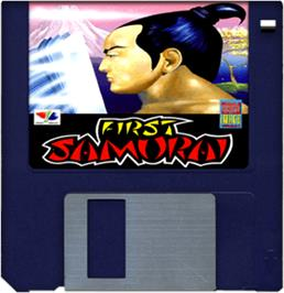 Artwork on the Disc for First Samurai on the Commodore Amiga.