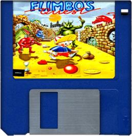 Artwork on the Disc for Flimbo's Quest on the Commodore Amiga.