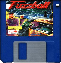 Artwork on the Disc for Fuzzball on the Commodore Amiga.