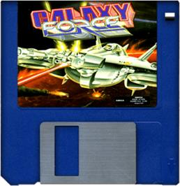 Artwork on the Disc for Galaxy Force 2 on the Commodore Amiga.
