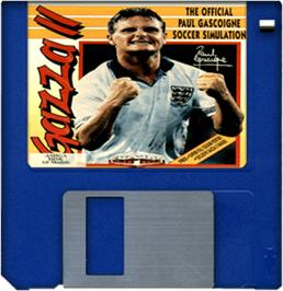 Artwork on the Disc for Gazza 2 on the Commodore Amiga.