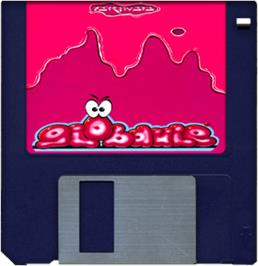 Artwork on the Disc for Globdule on the Commodore Amiga.