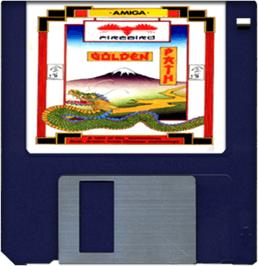 Artwork on the Disc for Golden Path on the Commodore Amiga.