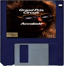 Artwork on the Disc for Grand Prix Circuit on the Commodore Amiga.