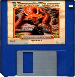 Artwork on the Disc for Hero's Quest: So You Want To Be A Hero on the Commodore Amiga.