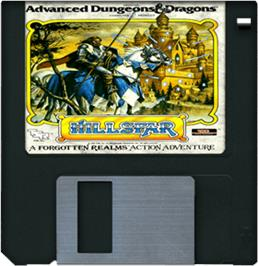 Artwork on the Disc for Hillsfar on the Commodore Amiga.
