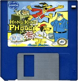 Artwork on the Disc for Hong Kong Phooey: No.1 Super Guy on the Commodore Amiga.