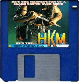 Artwork on the Disc for Human Killing Machine on the Commodore Amiga.
