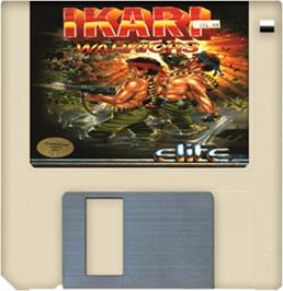 Artwork on the Disc for Ikari Warriors on the Commodore Amiga.