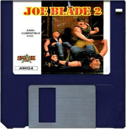 Artwork on the Disc for Joe Blade 2 on the Commodore Amiga.