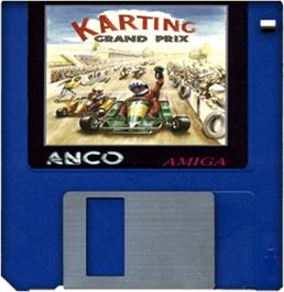 Artwork on the Disc for Karting Grand Prix on the Commodore Amiga.