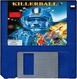 Artwork on the Disc for Killerball on the Commodore Amiga.