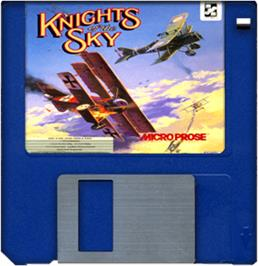 Artwork on the Disc for Knights of the Sky on the Commodore Amiga.