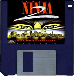 Artwork on the Disc for Last Ninja 2 on the Commodore Amiga.