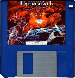 Artwork on the Disc for Legend of Faerghail on the Commodore Amiga.