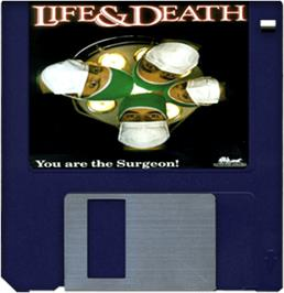 Artwork on the Disc for Life & Death on the Commodore Amiga.