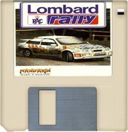 Artwork on the Disc for Lombard RAC Rally on the Commodore Amiga.