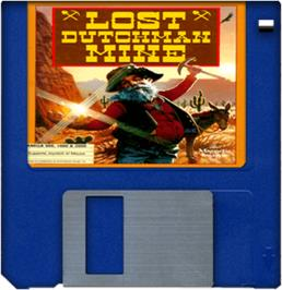 Artwork on the Disc for Lost Dutchman Mine on the Commodore Amiga.