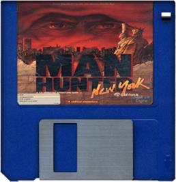 Artwork on the Disc for Manhunter: New York on the Commodore Amiga.