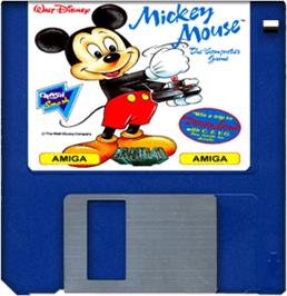 Artwork on the Disc for Mickey Mouse: The Computer Game on the Commodore Amiga.
