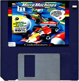Artwork on the Disc for Micro Machines on the Commodore Amiga.