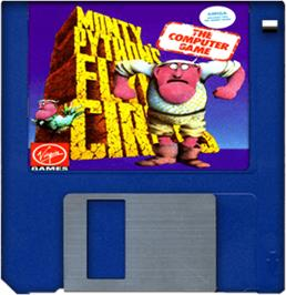 Artwork on the Disc for Monty Python's Flying Circus on the Commodore Amiga.